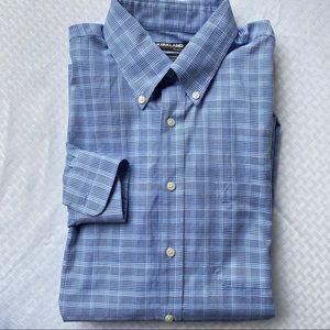 Kirkland blue men's button-down dress shirt